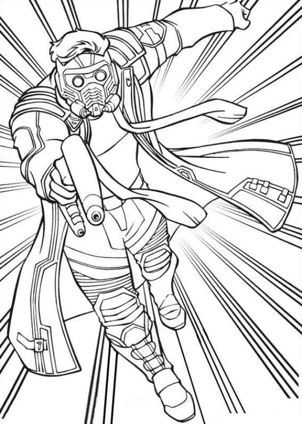 Superhero Coloring Pages Guardians Star Lord