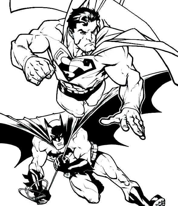 Superman Vs Batman Coloring Page