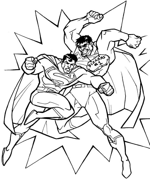 Superman Vs Bizarro Coloring Page