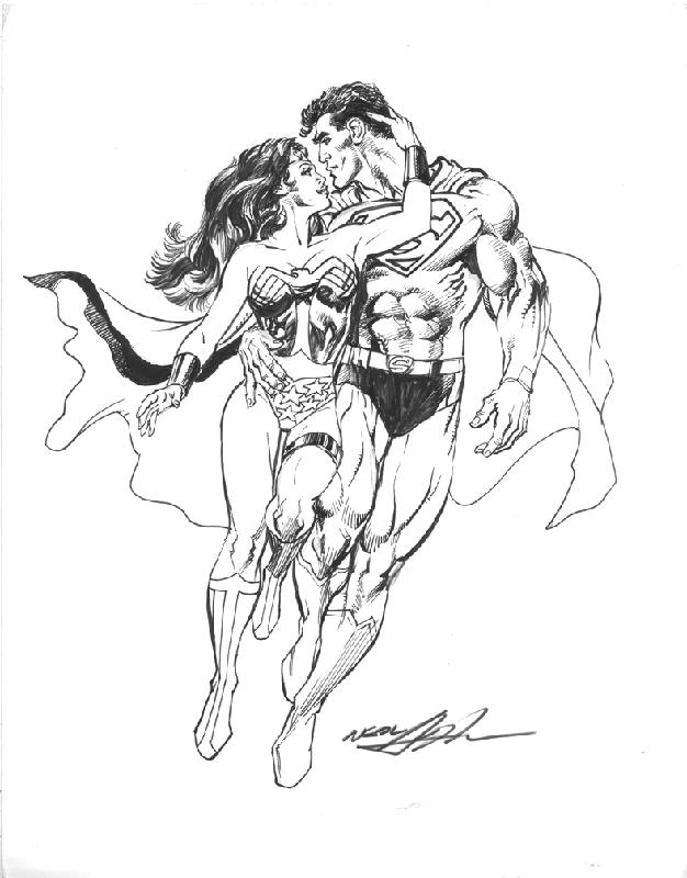 Superman Wonderwoman Coloring Page