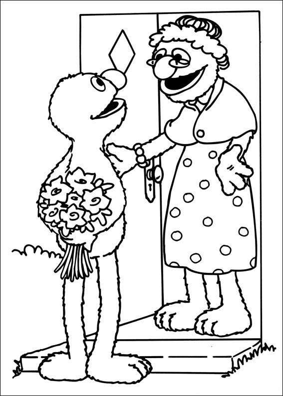Sweet Grover Sesame Street Coloring Pages
