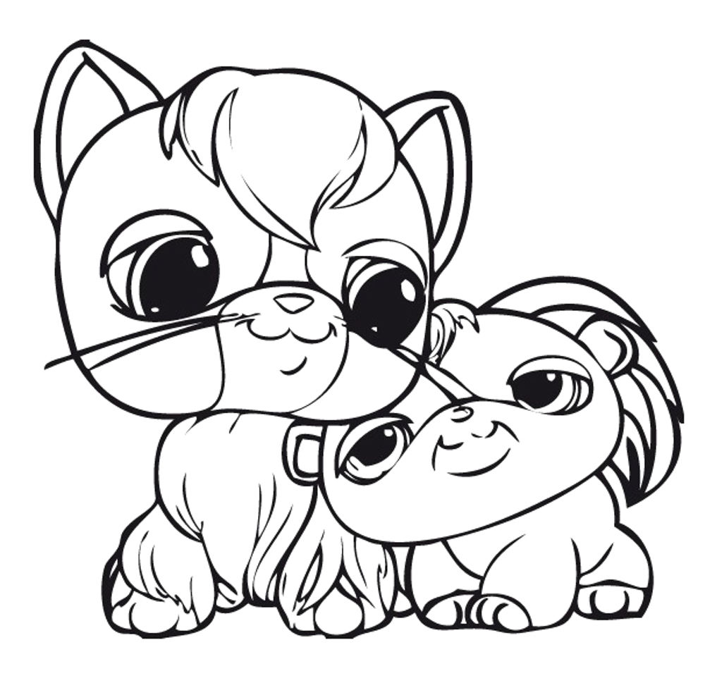 Littlest Pet Shop Coloring Pages for Kids - Free Printables | 969x1000