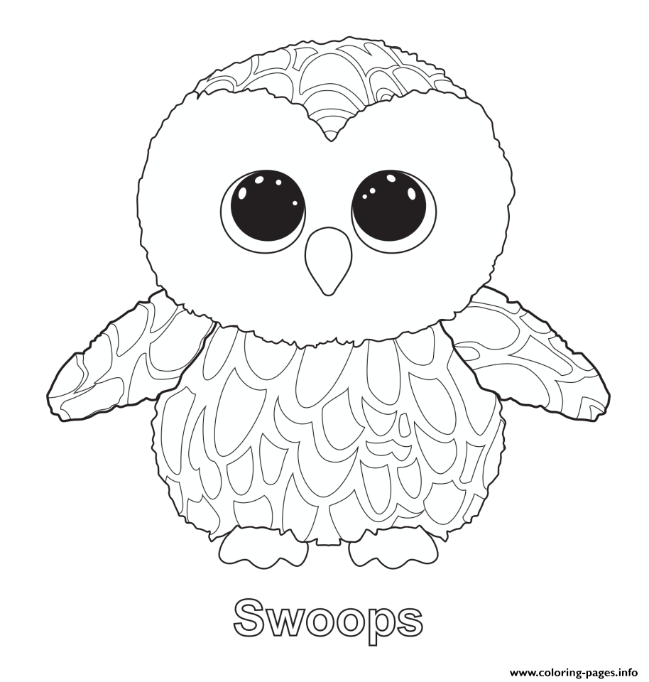 Swoops - Beanie Boo Coloring Pages