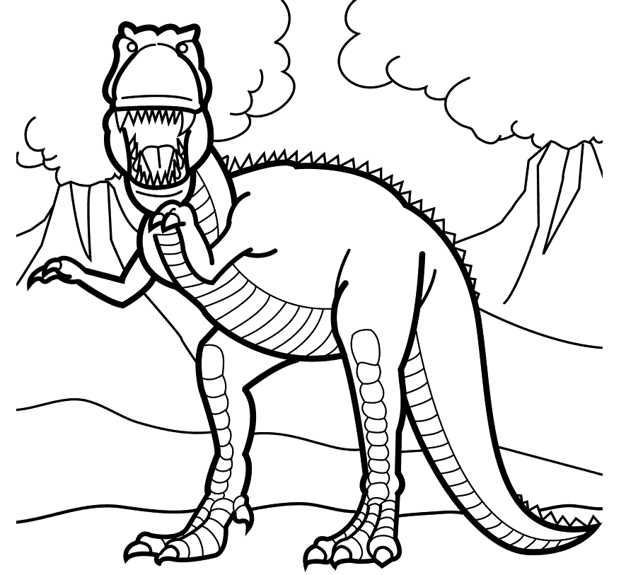 T-Rex Coloring Page for Kids