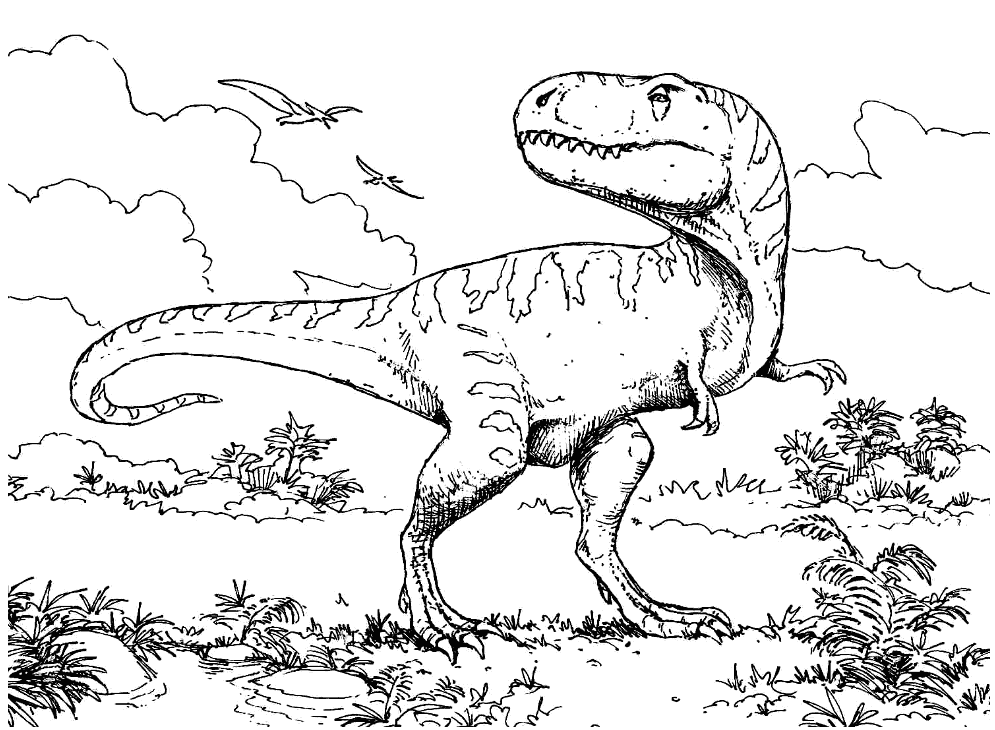 Dinosaur Coloring Pages - English ESL Worksheets for distance ... | 730x995