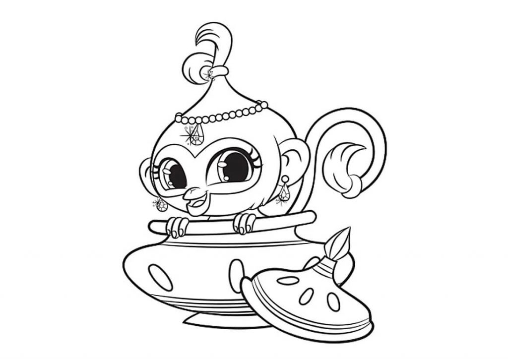 Tala Printable Shimmer and Shine Coloring Pages