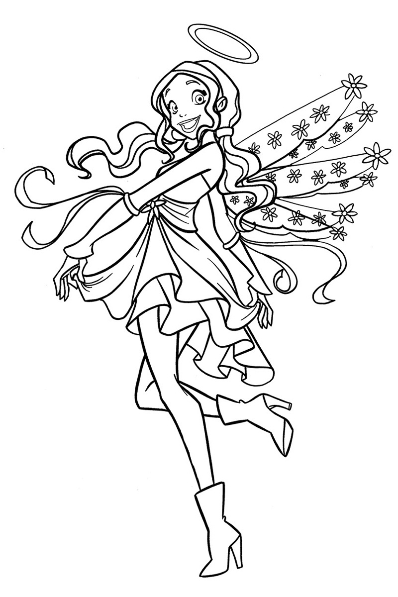 Teen Angel Coloring Page