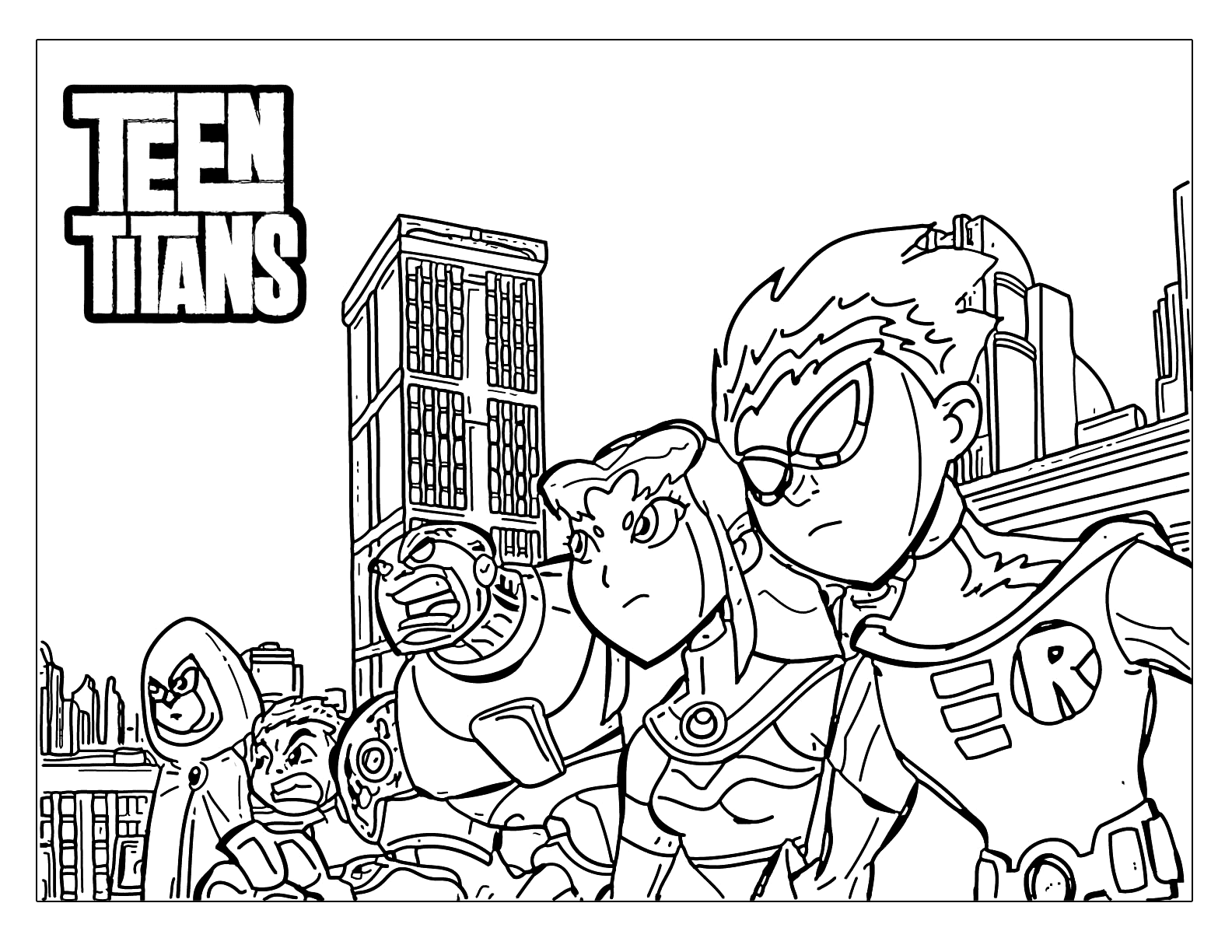 - Teen Titans Printable Coloring Pages – Coloring.rocks!