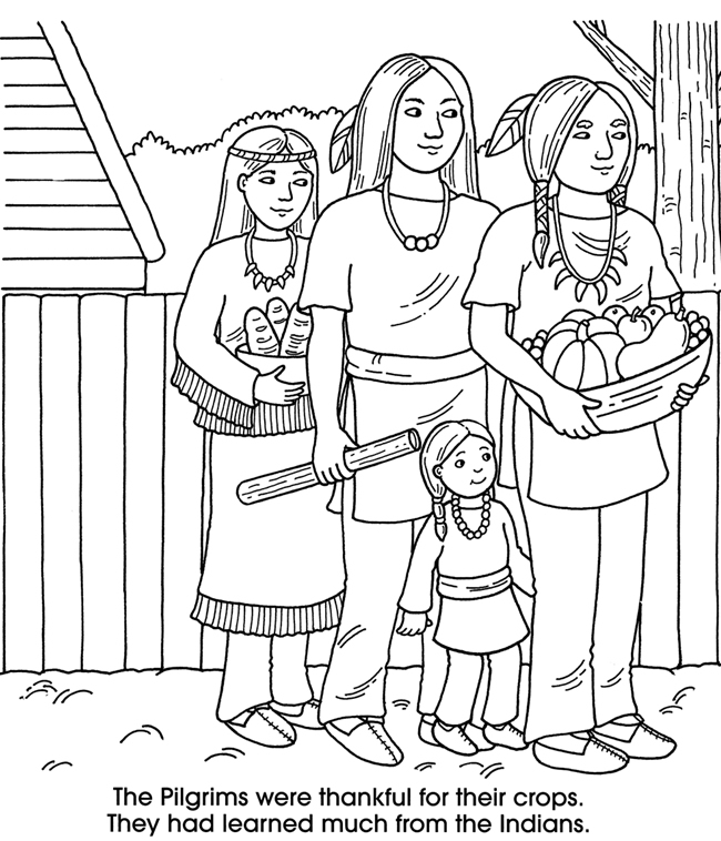Thanksgiving Gifts Coloring Pages