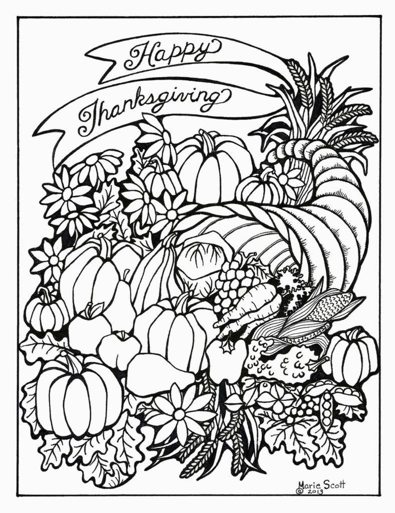 Thanksgiving Harvest Coloring Page
