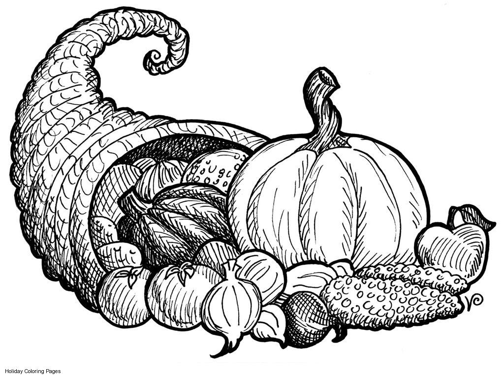 Thanksgiving Pumpkin Harvest Coloring Pages