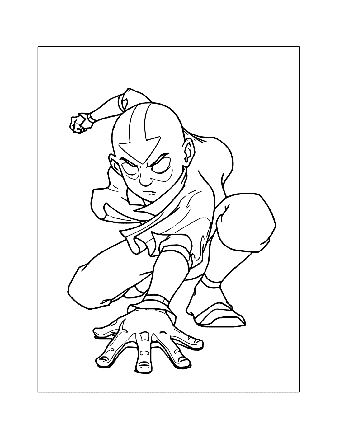 The Avatar Coloring Page