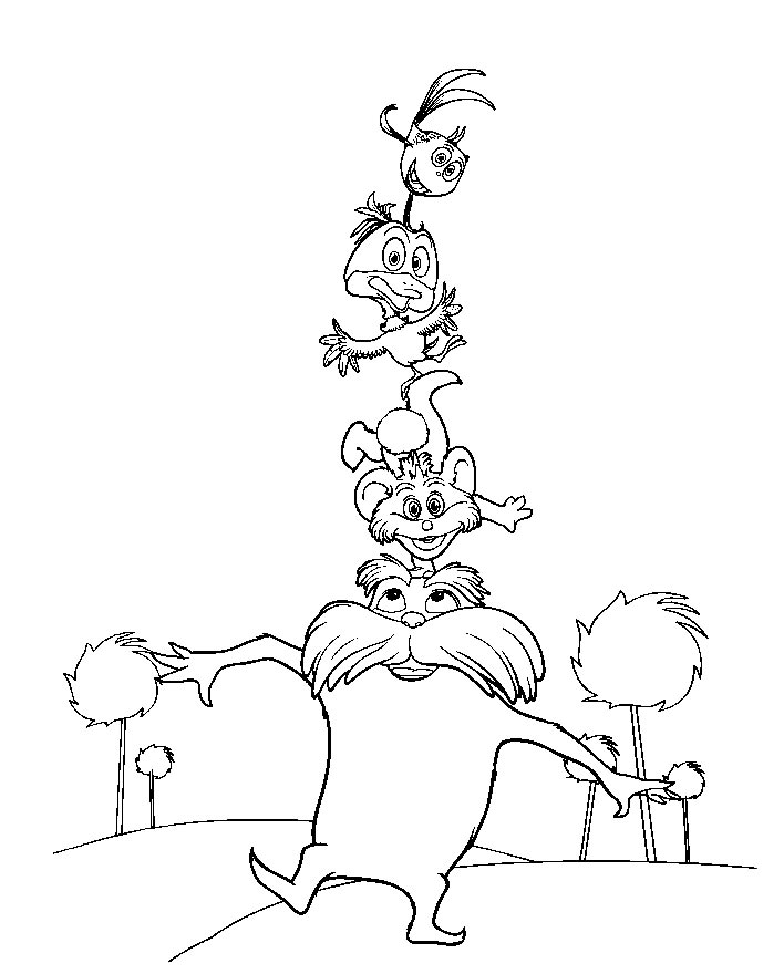 photograph regarding Lorax Template Printable referred to as Lorax Coloring Web pages coloring.rocks!