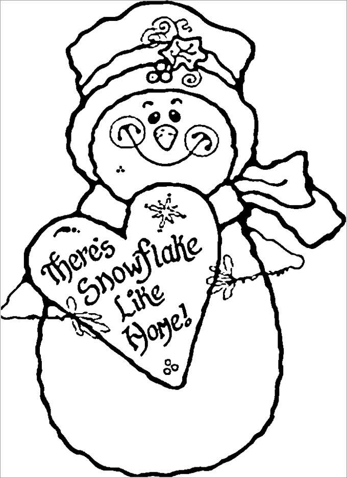 Snowman | Free Printable Templates & Coloring Pages | FirstPalette.com | 937x680