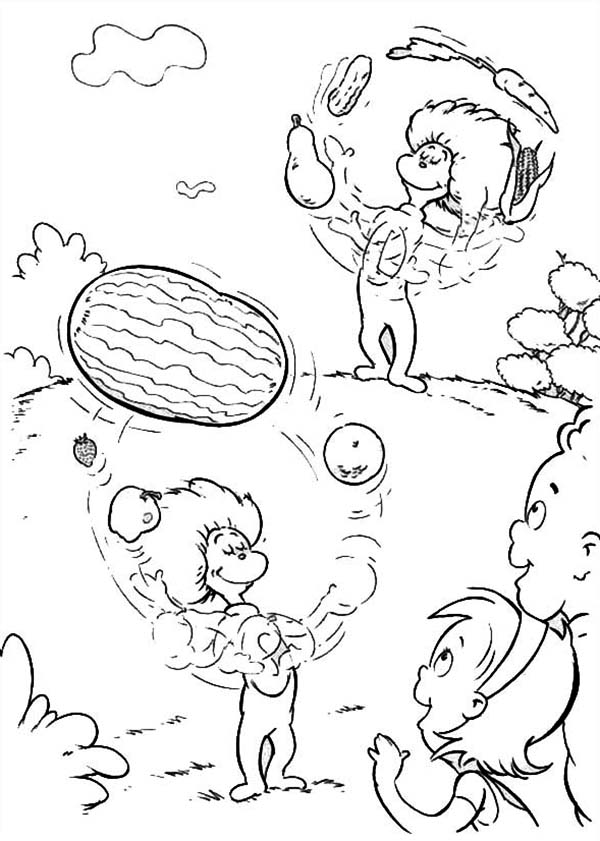 Cat In The Hat Coloring Page - Coloring Home | 841x600