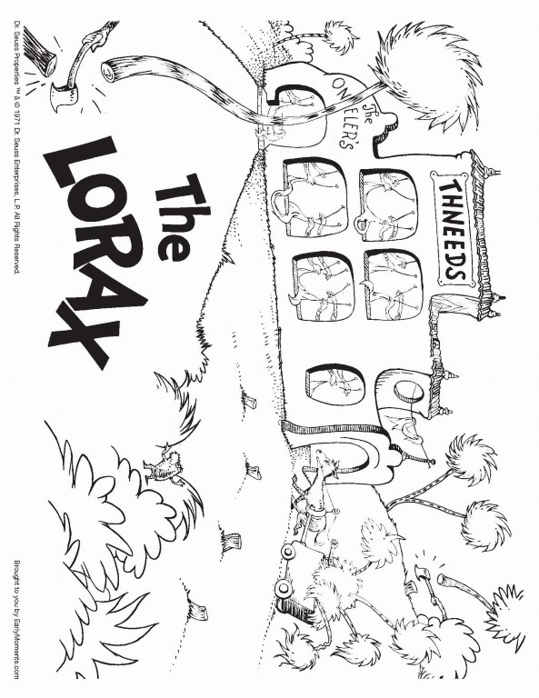 Thneeds Business Lorax Coloring Page