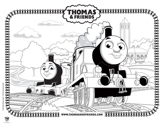 Coloring page Thomas the Train Thomas the Train | Train coloring ... | 494x640