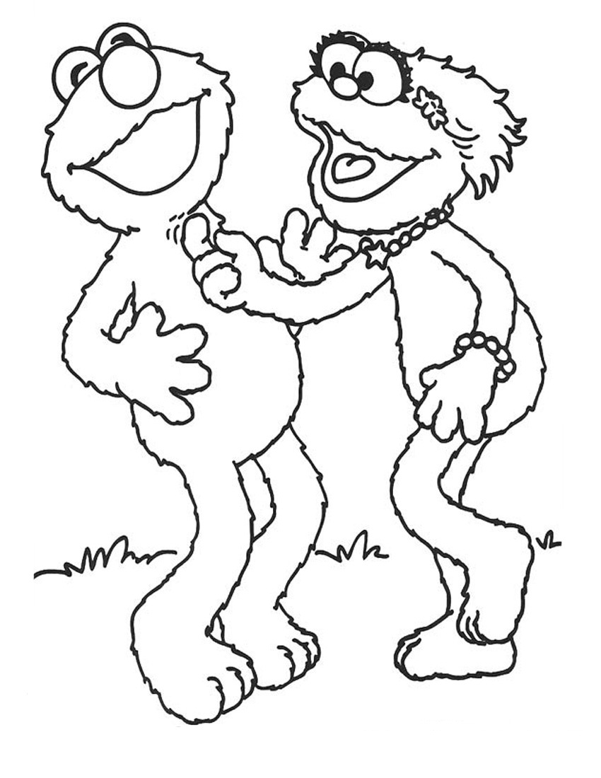 Tickle Elmo Coloring Page