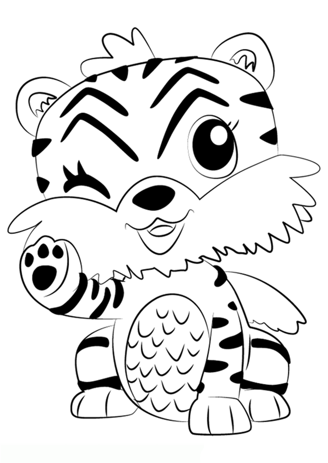 Tiger Hatchimals Coloring Pages