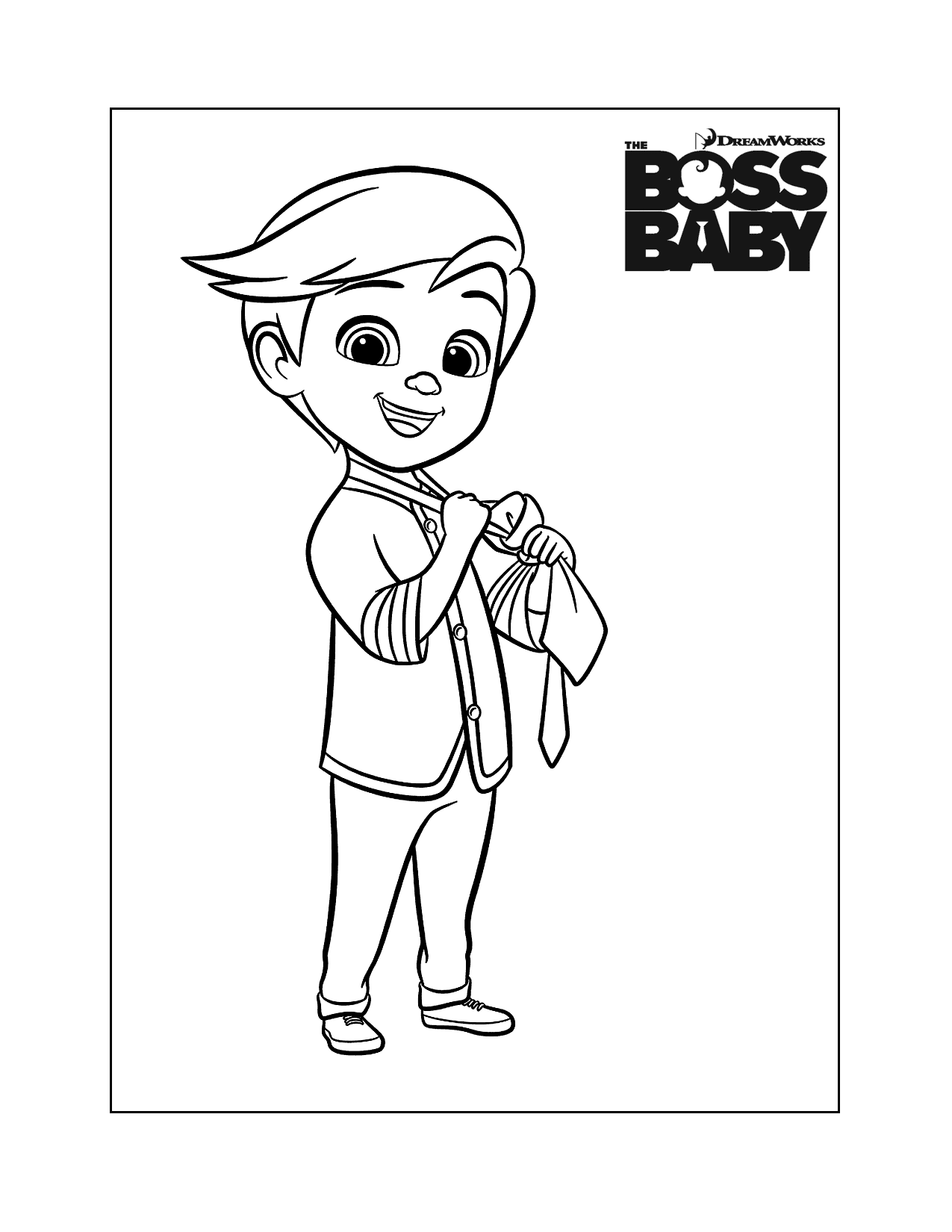Tim Boss Baby Coloring Page