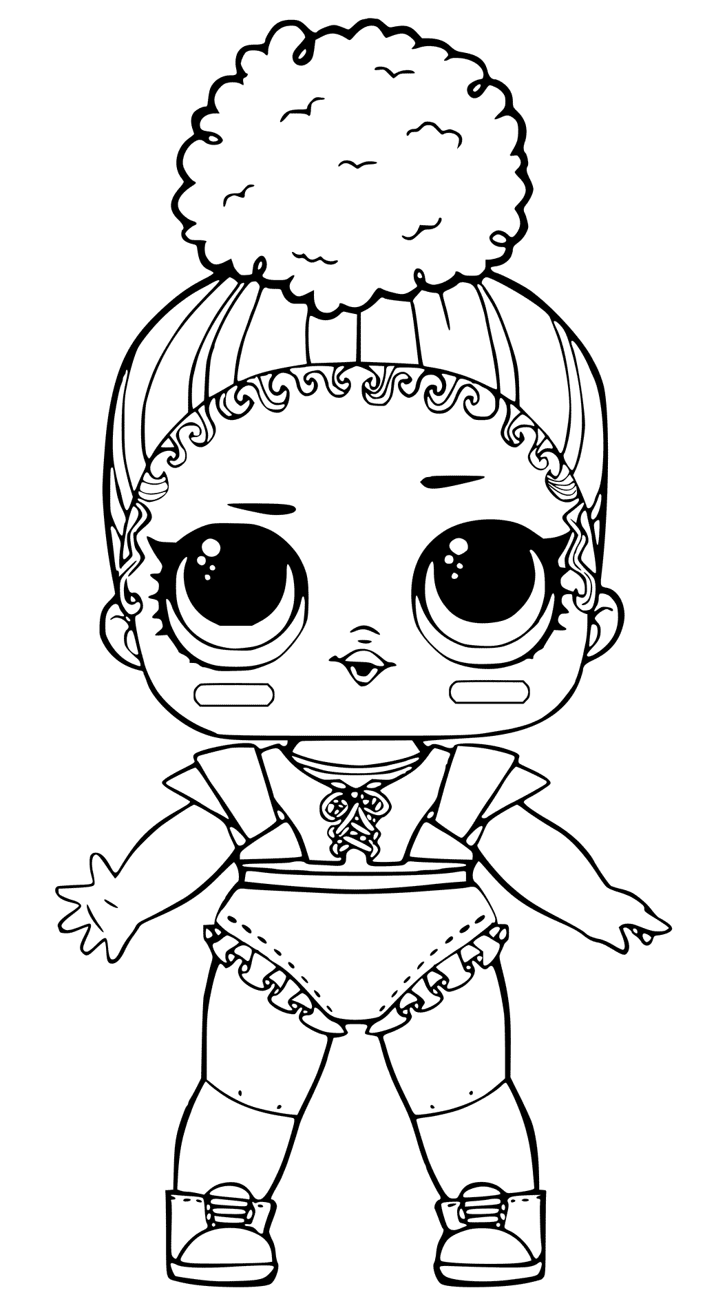 Touchdown LOL Doll Coloring Pages