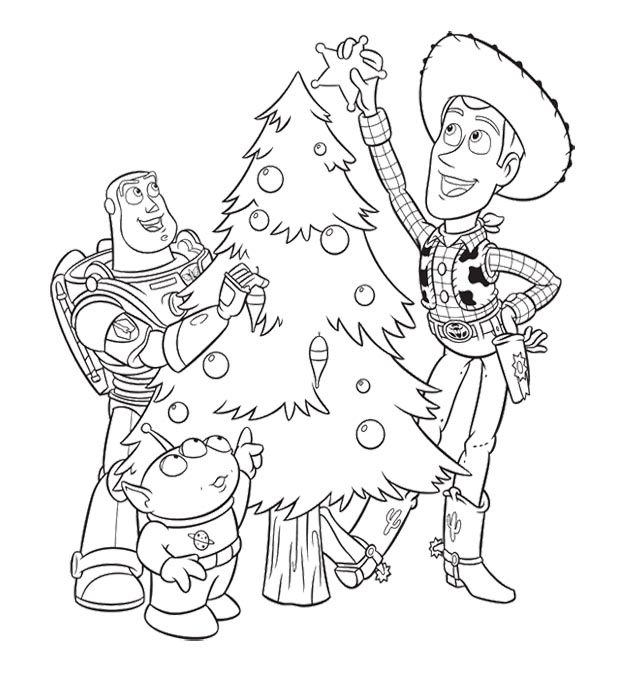 Toy Story Christmas Coloring Pages