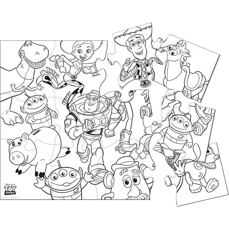 Toy Story Jigsaw Puzzle Coloring Pages