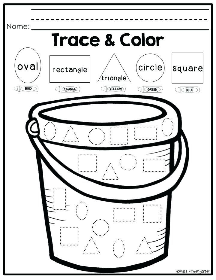 Trace and Color Preschool Worksheet