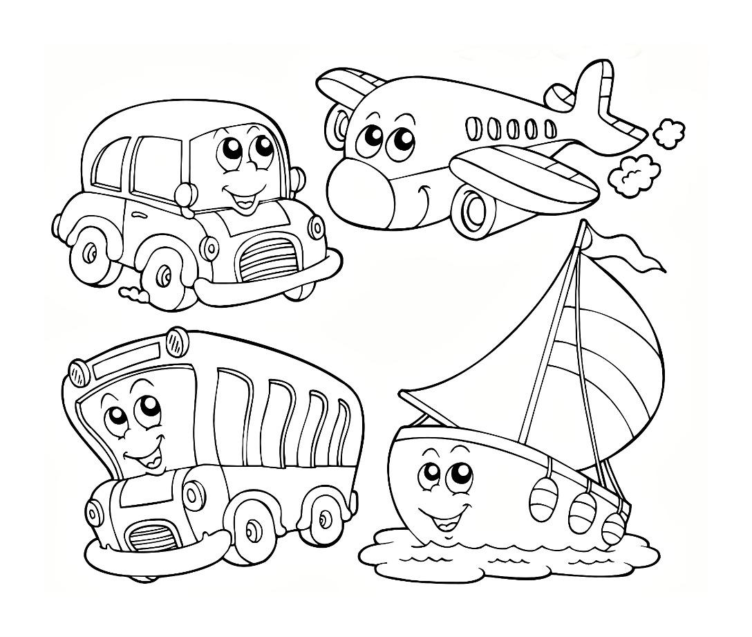 Travel Kindergarten Coloring Pages