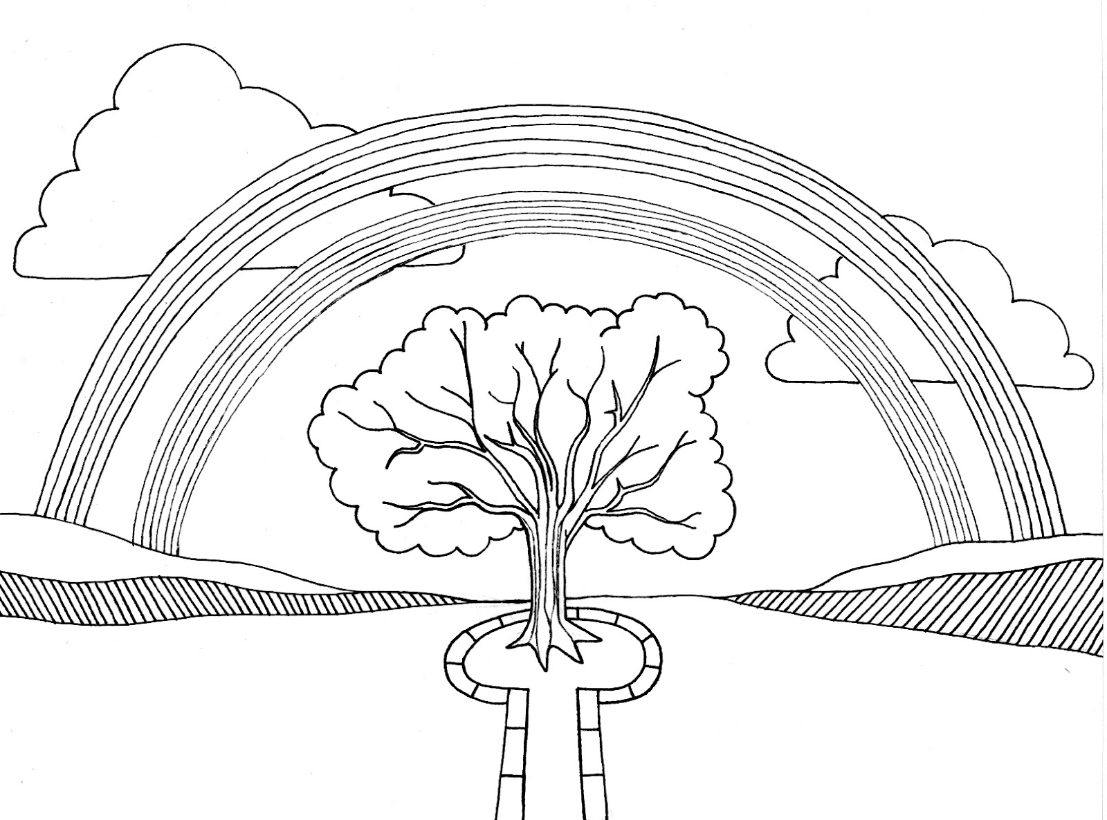 Tree and Rainbow Coloring Pages