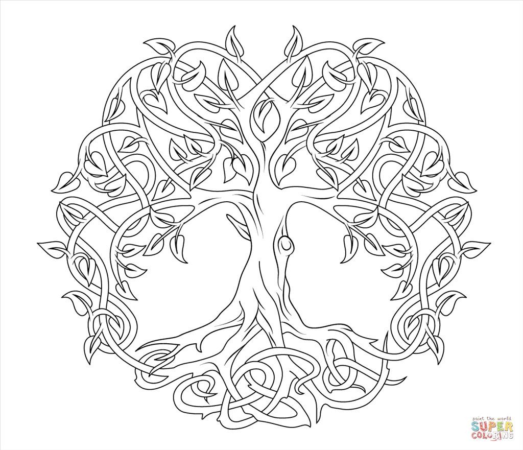 Tree of Life St Patricks Day Coloring Pages