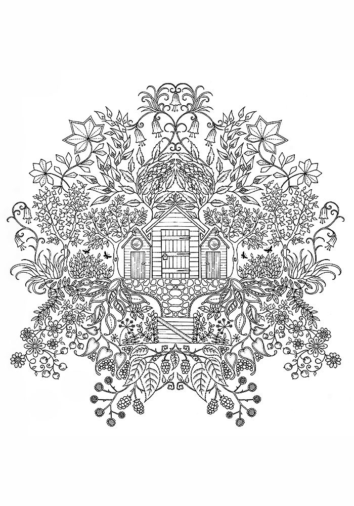 Treehouse Flower Coloring Pages