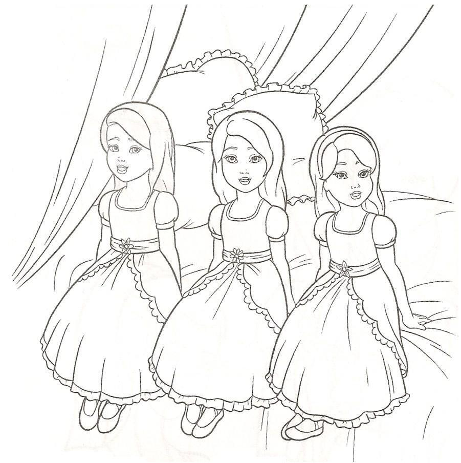 Triplet Princess Coloring Pages