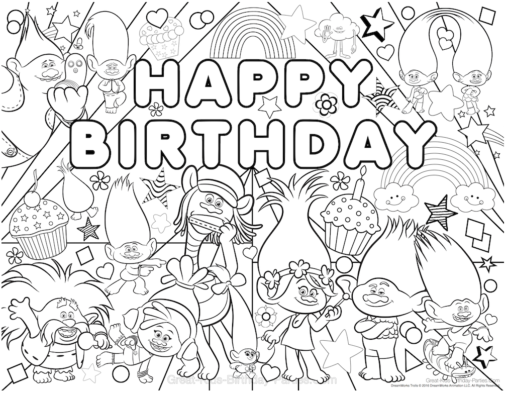Trolls Poppy Coloring Pages | How to Draw and Color Dreamworks ... | 784x1007