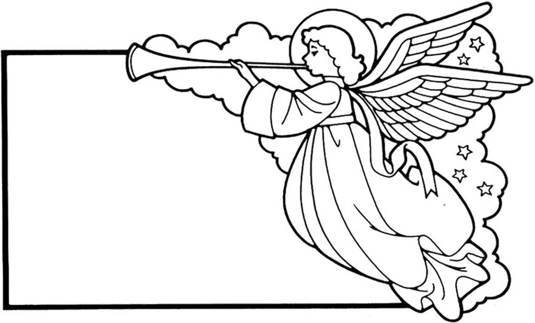 Trumpet Angel Sign Printable