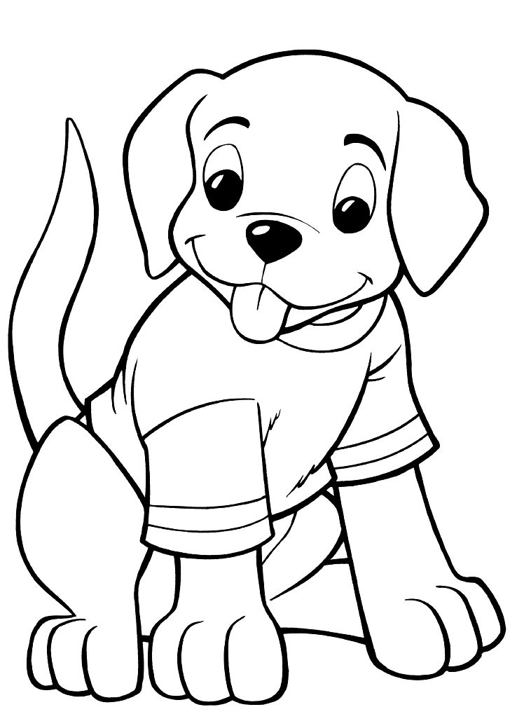 Tshirt Dog Coloring Pages