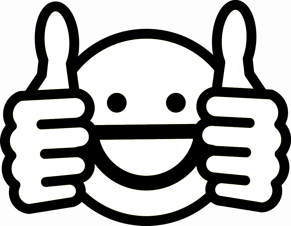Two Thumbs Up Emoji Coloring Page