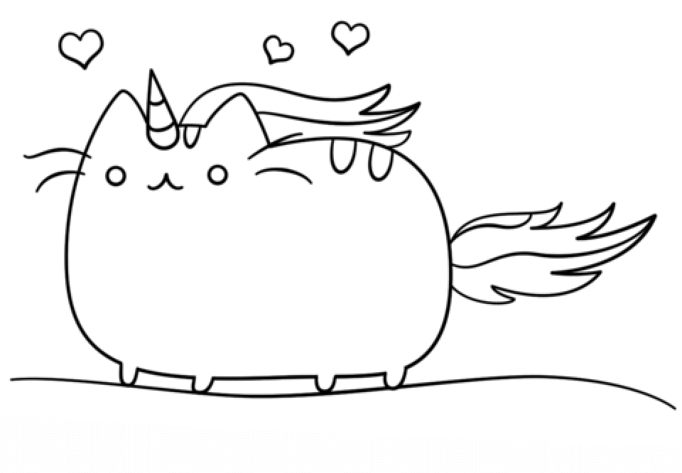 Unicat Kawaii Coloring Pages