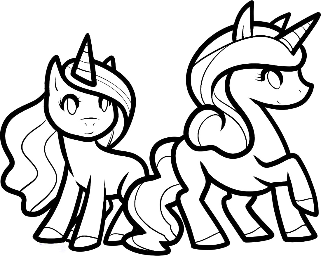 Unicorn Cartoon Coloring Pages