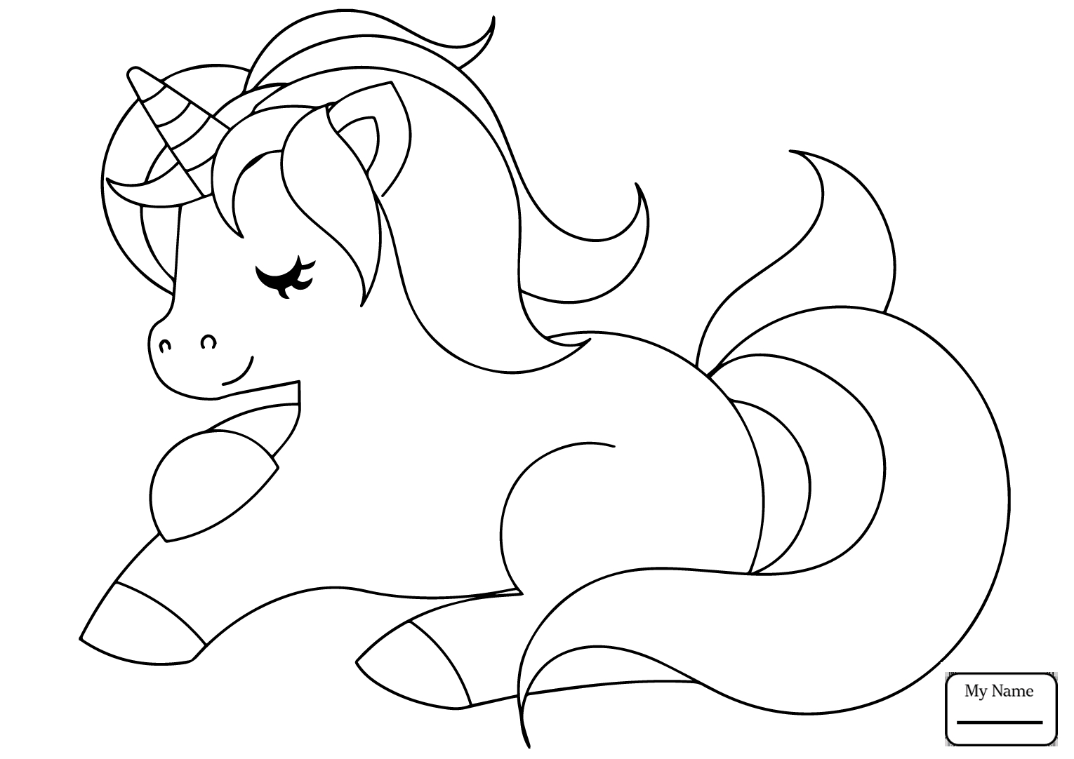 - Unicorn Coloring Page For Preschoolers – Coloring.rocks!