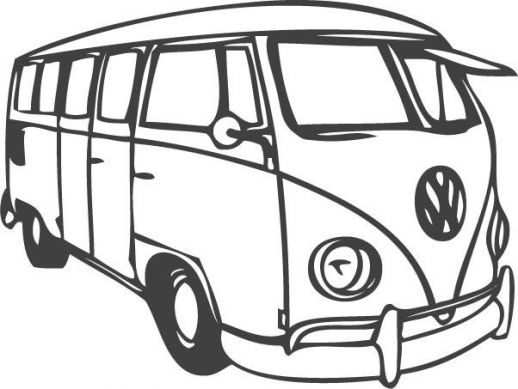 VW Bus Car Coloring Pages
