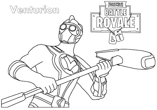 Venturion Fortnite Coloring Pages