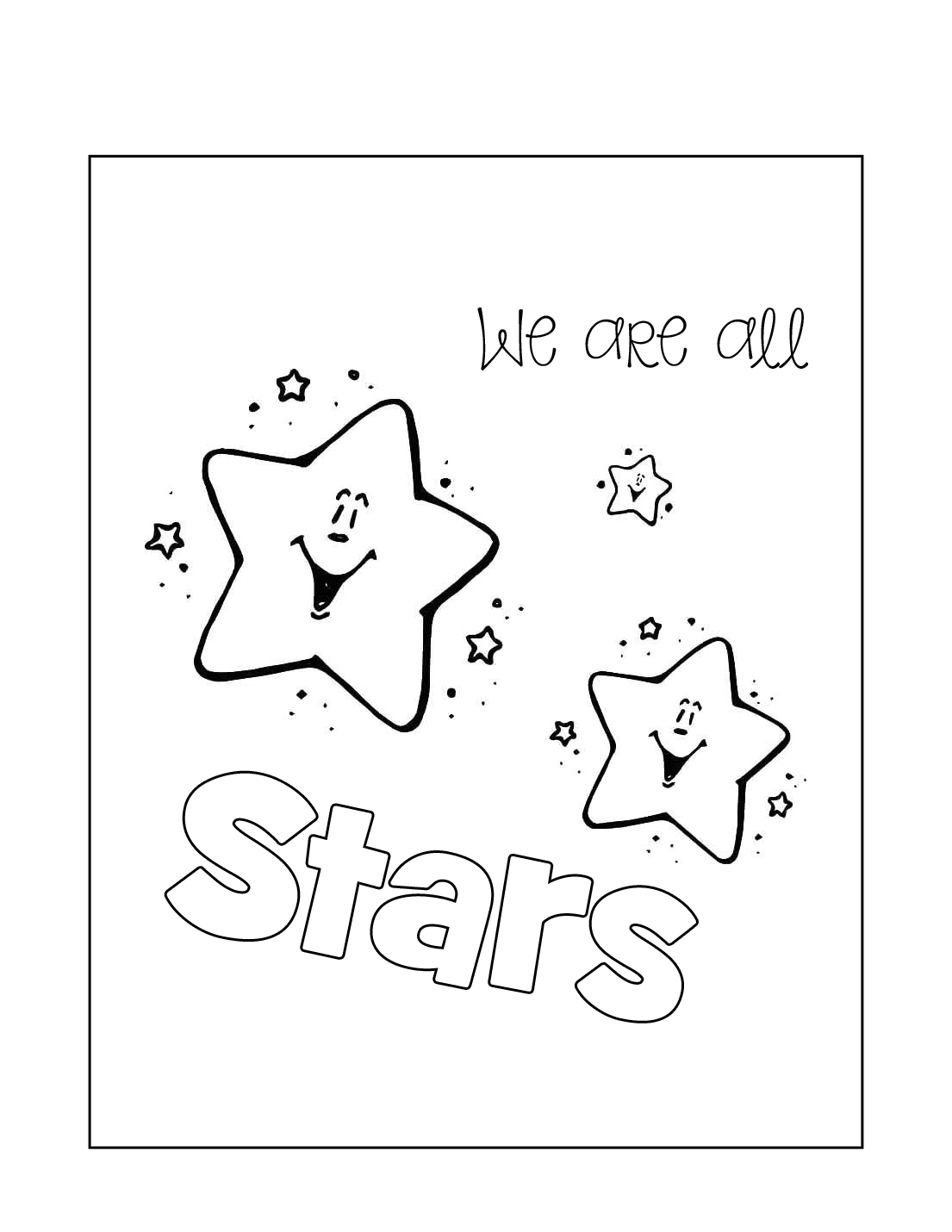 We Are All Stars Coloring Page