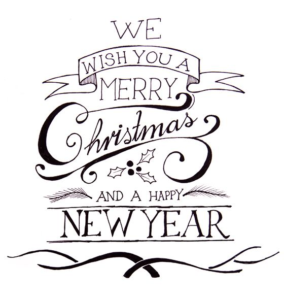 We Wish You a Merry Christmas Coloring Page