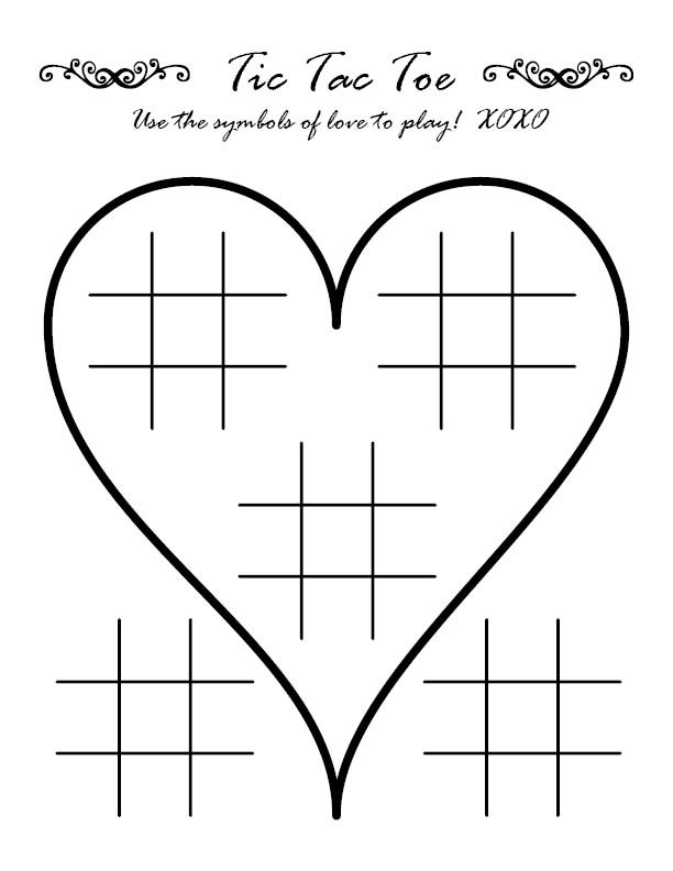 Wedding Activity Sheet Tic Tac Toe