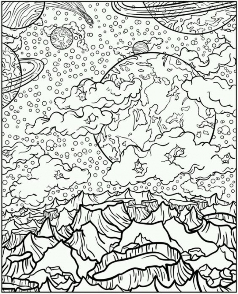 Wild Solar System Coloring Page