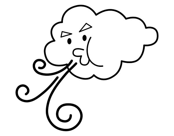 Cloud Coloring Pages - Free Printables - MomJunction | 470x600