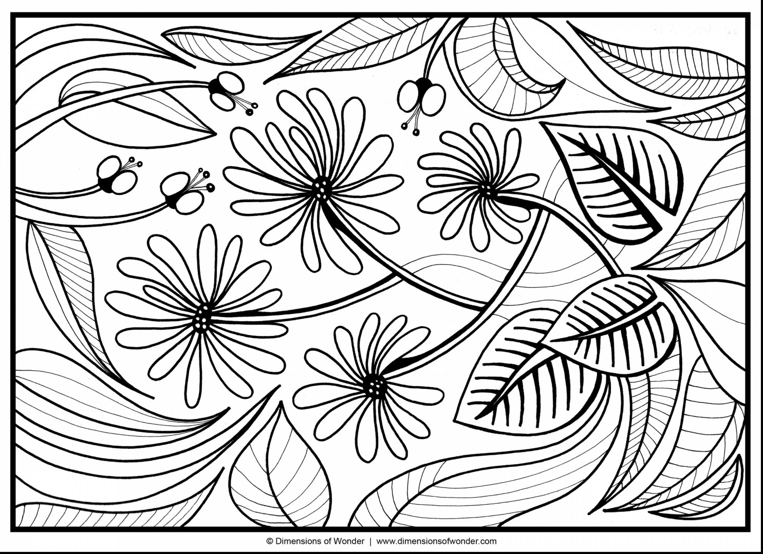 Windy Flower Coloring Pages