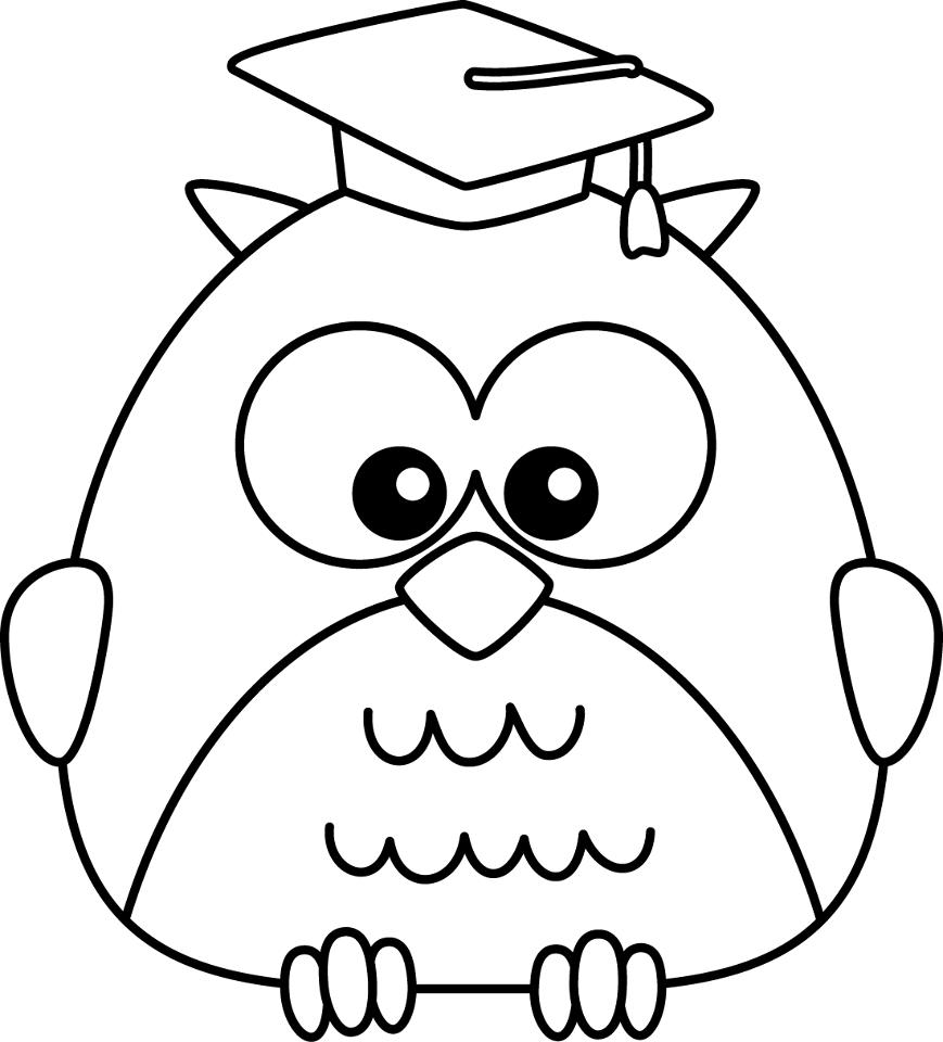 Wise Owl Kindergarten Coloring Pages
