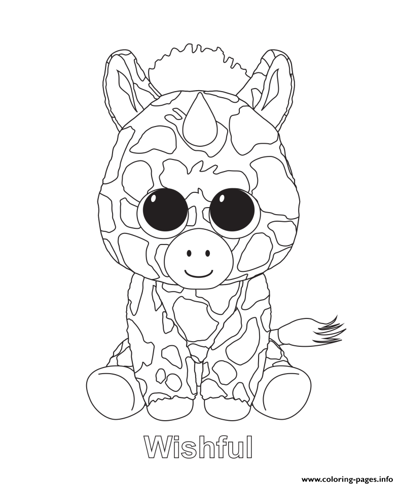 Wishful - Beanie Boo Coloring Pages